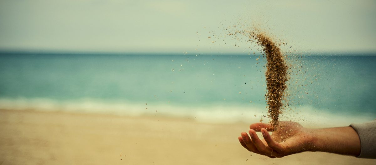 A handful ofsand…